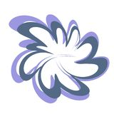 Projeto abstrato Clipart da flor Foto de Stock