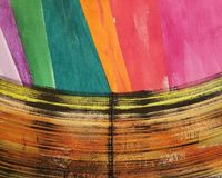 Projeto abstrato colorido da pintura Fotografia de Stock Royalty Free