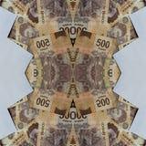 projeto abstrato com as cédulas mexicanas de 500 pesos Fotos de Stock Royalty Free
