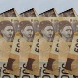 projeto abstrato com as cédulas mexicanas de 500 pesos Imagens de Stock Royalty Free
