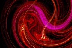 Projeto abstrato com as ondas claras cor-de-rosa e vermelhas Fotos de Stock