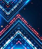 Projeto abstrato com as setas brilhantes para sua apresentação do negócio Imagem de Stock Royalty Free