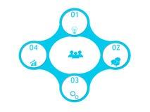 Projeto abstrato com círculos Imagens de Stock Royalty Free