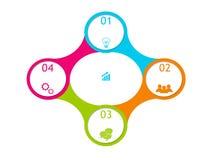 Projeto abstrato com círculos Foto de Stock Royalty Free