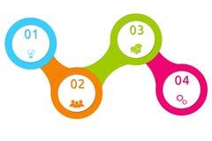 Projeto abstrato com círculos para a Web Fotografia de Stock