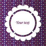 Projeto abstrato com quadro de papel Imagens de Stock Royalty Free