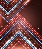 Projeto abstrato com setas brilhantes e lugar para seu texto. Imagem de Stock