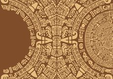 Projeto abstrato com um ornamento maia antigo Imagens de Stock