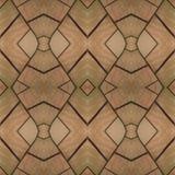 Projeto abstrato com uma colagem de uma aproximação do vitral com cores marrons e alaranjadas da luz - imagens de stock royalty free