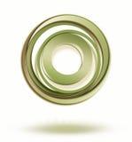 Fundo abstrato. círculos do ícone ilustração stock