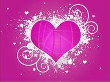 Projeto abstrato cor-de-rosa do coração de Grunge Ilustração do Vetor