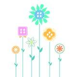 Projeto abstrato da flor Fotografia de Stock Royalty Free