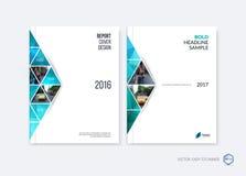 Projeto abstrato da tampa, disposição do molde do folheto do negócio, relatório ilustração royalty free