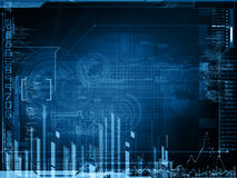 Projeto abstrato da tecnologia Imagens de Stock Royalty Free