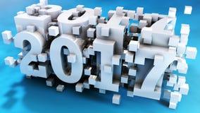 Projeto 2017 abstrato da tipografia do ano ilustração do vetor