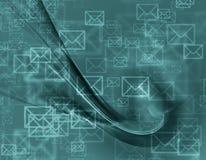 Projeto abstrato de envelopes do correio Imagem de Stock