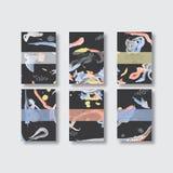 Projeto abstrato do cartão da pintura da aquarela projeto das vibrações do cartão da aquarela bom cartão extravagante Fotos de Stock Royalty Free