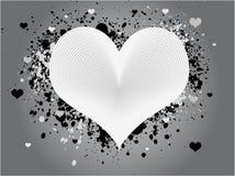 Projeto abstrato do coração de Grunge Fotos de Stock