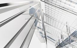 Projeto abstrato do fundo das formas da geometria Imagens de Stock
