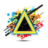 Projeto abstrato do fundo do triângulo Fotografia de Stock