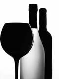 Projeto abstrato do fundo dos produtos vidreiros do vinho Fotos de Stock
