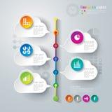 Projeto abstrato do molde do infographics. Imagens de Stock Royalty Free