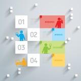 Projeto abstrato do molde do infographics. Foto de Stock