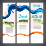 Projeto abstrato do molde do vetor do esporte, folheto, sites Símbolos do esporte Foto de Stock Royalty Free