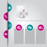 Projeto abstrato do molde do Web site com cascas da cor Imagens de Stock Royalty Free