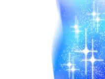 Projeto abstrato do Natal com as estrelas brancas no azul Foto de Stock Royalty Free