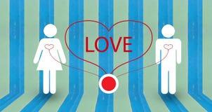 Projeto abstrato do papel de parede do amor Imagem de Stock