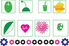 Projeto abstrato do símbolo do amor Fotografia de Stock Royalty Free