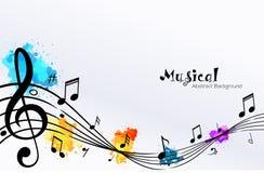 Projeto abstrato dos coros da nota da música imagens de stock