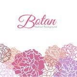 Projeto abstrato floral doce do vetor do fundo de Botan ilustração royalty free