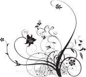 Projeto abstrato floral no branco ilustração do vetor