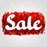 Projeto abstrato vermelho do fundo da venda com brilho Fotografia de Stock Royalty Free