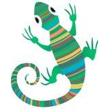 Projeto africano do lagarto ilustração stock