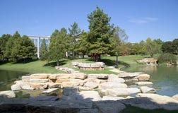 Projeto agradável das paisagens em Hall Park fotografia de stock