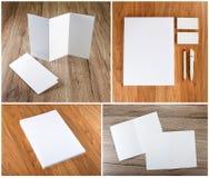 Projeto ajustado dos artigos de papelaria Molde dos artigos de papelaria Template corporativo para artes -finais do negócio Fotografia de Stock Royalty Free