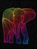 Projeto alinhado da arte do vetor espectros abstratos ilustração stock