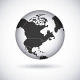 projeto americano do continente Fotografia de Stock Royalty Free
