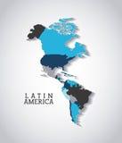 projeto americano do continente Imagens de Stock