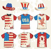 Projeto americano do t-shirt de Grunge ilustração stock