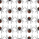 Projeto animal assustador do teste padrão sem emenda do medo do aracnídeo da silhueta da Web de aranha ilustração do vetor