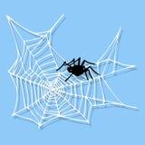 Projeto animal assustador liso gráfico do medo do aracnídeo da silhueta da Web de aranha ilustração do vetor