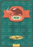 Projeto antiquado do menu do vintage Foto de Stock