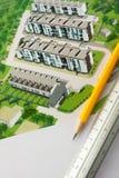 Projeto arquitectónico Fotos de Stock Royalty Free