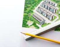 Projeto arquitectónico Imagens de Stock