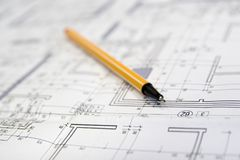 Projeto arquitetónico Imagem de Stock