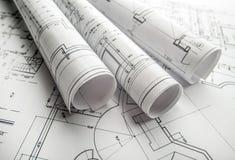 Projeto arquitetónico foto de stock